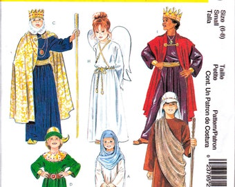 McCalls 2340 Costume Sewing Pattern Christmas Story, Passion Play, Angel, Wiseman King Childs Size 6-8