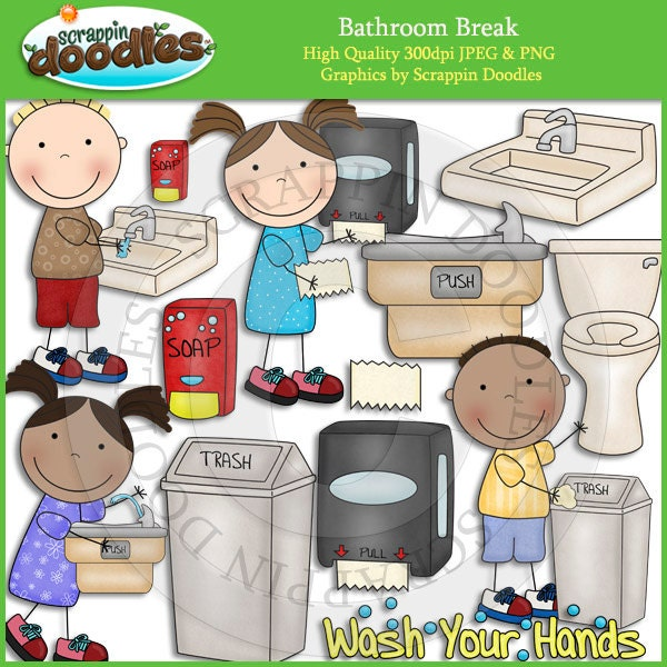 Bathroom Break Clip Art By ScrappinDoodles On Etsy