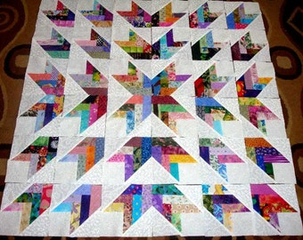 36 FRENCH BRAIDS  Quilt Top Fabric Blocks  Squares