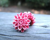 Dahlia Earrings White and Red Gifts Under 10