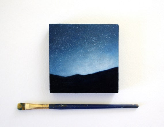 Reserved for Chris - Adirondack Night Sky Oil Painting