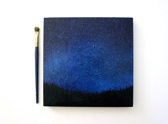 Reserved for Chris - Night Sky Oil Painting
