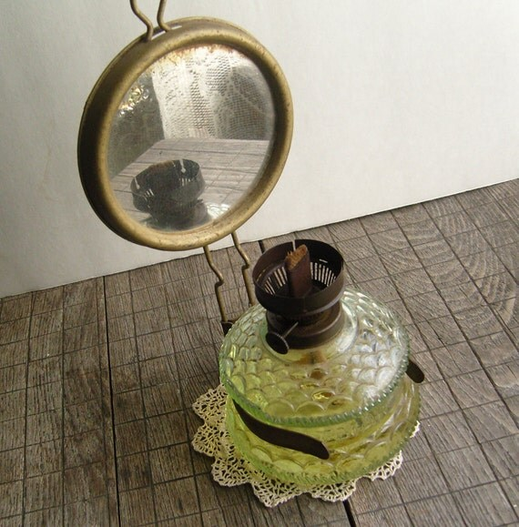 Wall Mounted Antique Oil Lamps : Vintage Ditmar Oil Lamp Wall Mount with Reflector