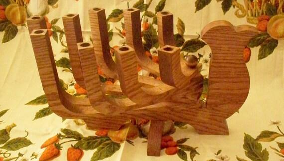 Jewish Hand Crafted Wood Menorah Turkey Menorah Hanukkah