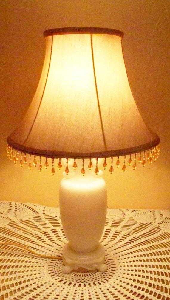 Antique Drop Leaf Table >> Aladdin Alacite Lamp Ivory Light Peach Color by vintagesouthwest