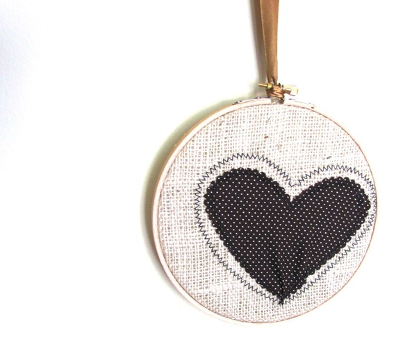 Made to Order, Custom Colours, Autumn,Woodland, Rustic Burlap Fall Heart Wall Hanging, Hoop Art, Embroidery Hoop, Home Decor
