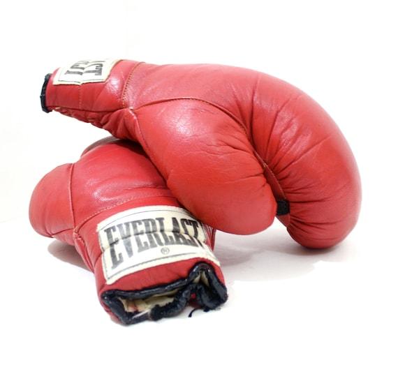 Gants de boxe everlast rouge vintage r tro 12 onces - Gants de boxe vintage ...