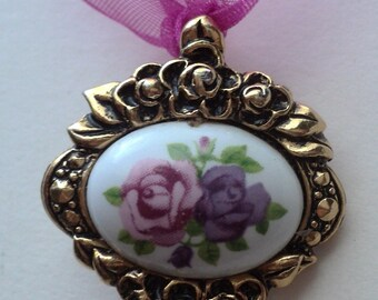 Floral Pendant-REDUCED