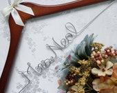 Wedding Hanger for Bride, Personalized Wedding Gift, Bride Hanger, Walnut Wood