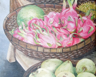 Dragon Fruit Still life Print