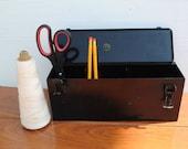 Vintage Industrial Black Storage Box