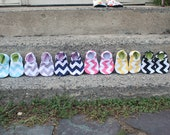 Chevron Soft Soled shoes - You choose the size and color
