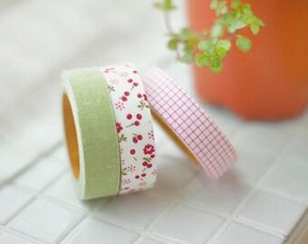 Decorative Adhesive Fabric Masking  Tape- Afresh (3 Set)