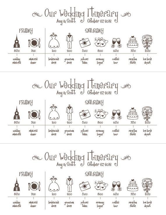 Hochzeit Timeline Druckbare Digitale Datei Zeitplan