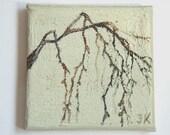 Minimalist art, Original painting,  Landscape painting, Impasto oil painting, palette knife , size 4X4