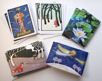 10 Fine Art Greetings Cards - Starry Night Selection