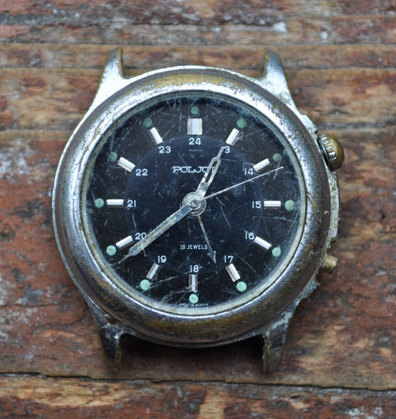 Vintage wrist watche for parts.Poljot Alarm.