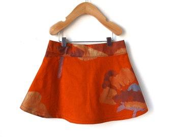 Girls Marimekko Skirt 4T - Shimmering Orange and Gold