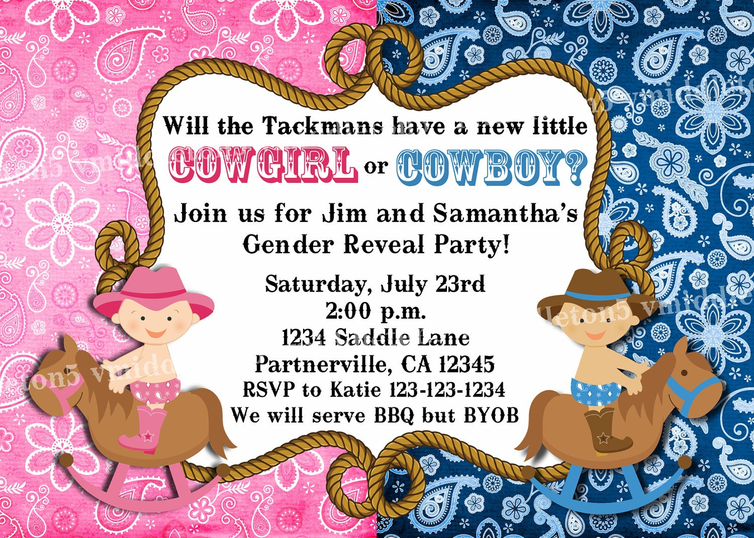 45 FREE PRINTABLE WESTERN BABY SHOWER INVITATIONS, FREE BABY ...