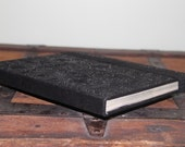 HTC Flyer Case, HTC Flyer Cover - made from a Real Book - Black Floral - ReAuthored