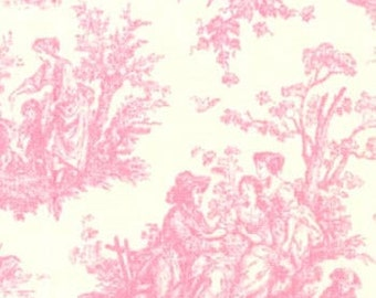 Two 26 x 26  Custom Designer Decorative Pillow Covers -  Toile -  Pink