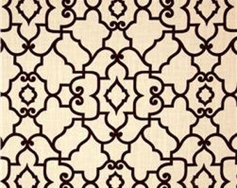 Two 26 x 26  Custom Designer Decorative Pillow Covers - Lattice Design - Black/Creamy White