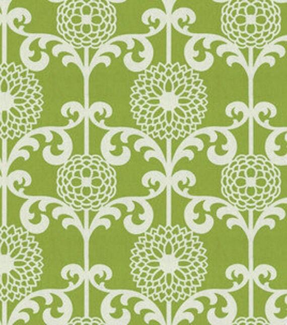 "Two  96"" x 50""  Custom  Curtain Panels -  Designer Waverly Fun Floret  -    Green ,  Black,  or Citrus Orange"