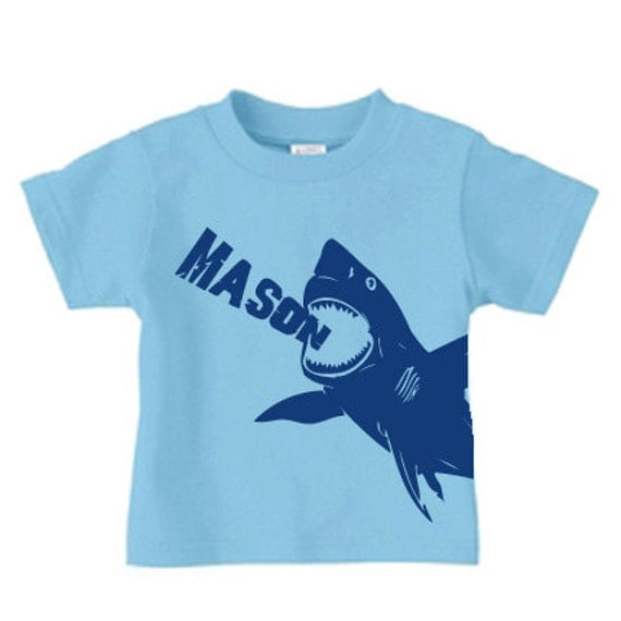 Personalized Shark T Shirt For Boys Shark By Pricelesskids