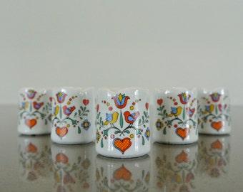 Vintage Folk Funny Design West Germany Tiny Candle Holders