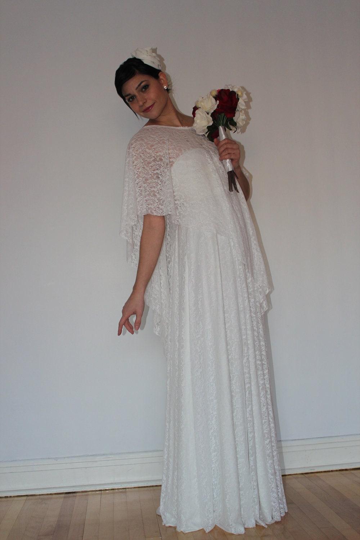Boho Wedding Dress White Lace Convertible Wrap Dress With