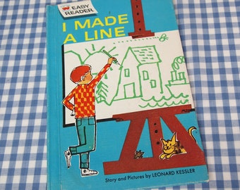 i made a line, vintage 1962 children's book