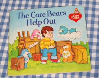 SALE the care bears help out, vintage 1983 children's book
