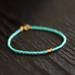 turquoise - gold trio bracelet