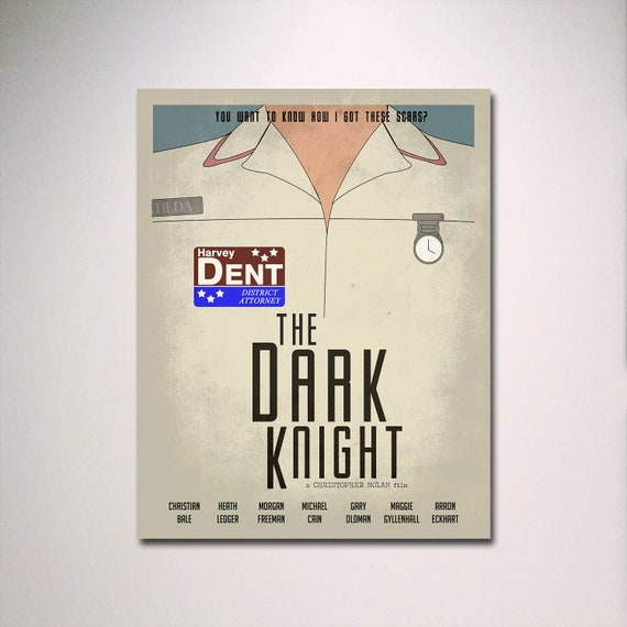 The Dark Knight  Minimalist Movie Poster / Pick Your Size / Movie Room Art