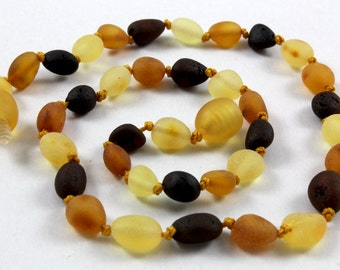 NATURAL BALTIC AMBER Unpolished Maximum Effective Baby Teething Necklace