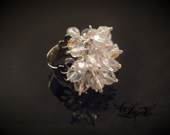 SALE!!! Sparkly tinkling ring- glass and metal - listing  for one ring