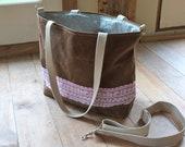 Waxed Canvas Baby Bag - Diaper Bag - Tote - Weather Resistant - Detachable Shoulder Strap