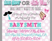 Gender Reveal printable Invitation, Printable Gender reveal party, Personalized, Baby shower, Gender reveal
