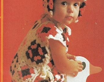 Vintage Pattern, Granny Square Play Set Pattern, Crochet pattern,  PDF pattern