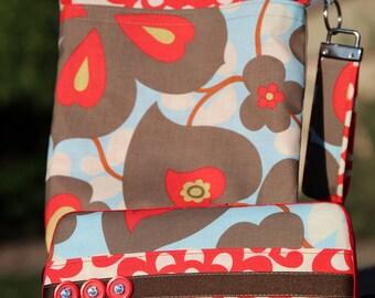 Wet Bag & Wipes Case - Mini Diaper Bag (Boy/Girl/Gender Neutral) - Red, Blue, Taupe