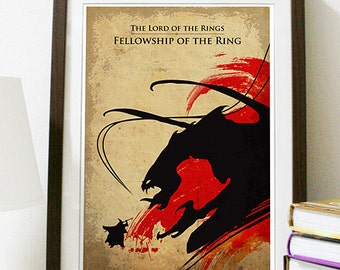 The Lord of the Rings The Fellowship of the Ring Vintage Poster Print