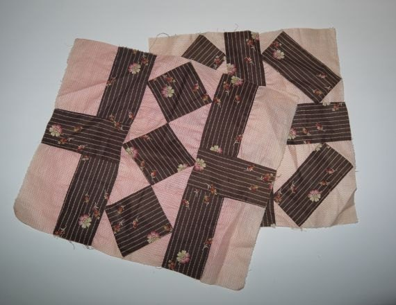 Vintage antique quilt squares / 30s 40s quilt blocks / assemblage altered art crafts / quilting sewing / feed sack prints