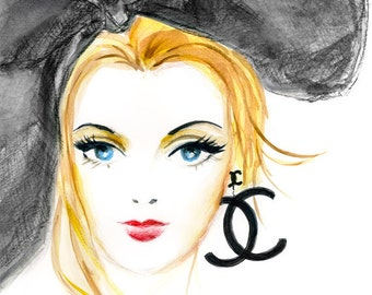 Chanel Girl - Fashion illustration art print