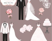 3 Luxury Wedding Dress & 2 Tuxedos  - Personal Or Small Commercial Use (P035)