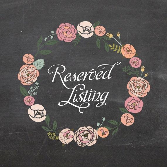 Reserved Listing for Kristin