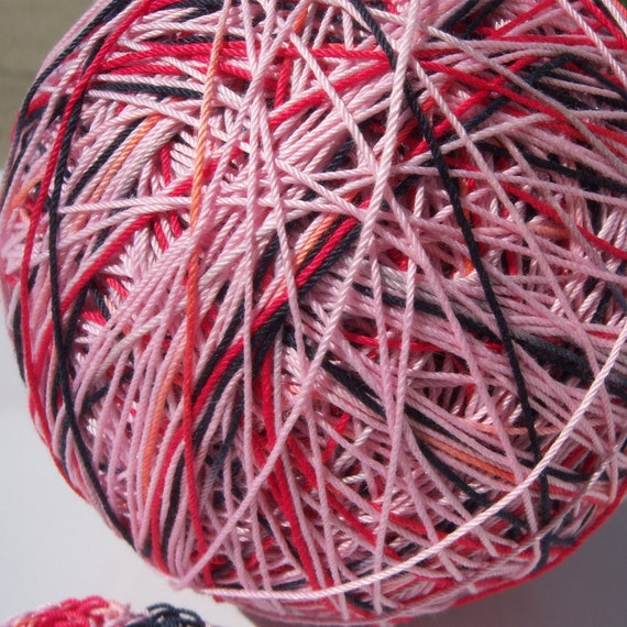 Crochet Cotton - Size 10 - Hand Dyed - Cupid - Sample Size