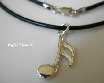 sixteenth note necklace (Silver 925)