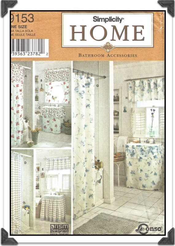 Simplicity pattern 9153 home decor bathroom accessories Home decor 1990s