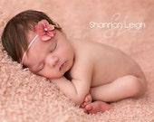 Newborn Headband Mauve Pink Hydrangea Flower Headband Beautiful Newborn Photo Prop