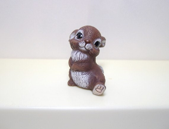 Ceramic miniature bunny - Playful bunny